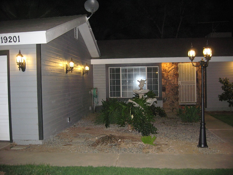 Marvelous Front Yard Lighting Part - 9: Garage And Pole Light Newly Added